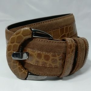 Carlisle Brown Suede Leather Belt Size S